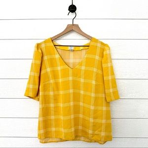 A New Day yellow plaid top